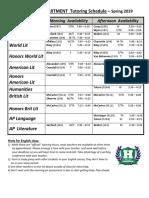 english tutoring schedule - harrison