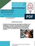 Anestesia Local en Odontologia