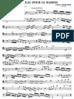 Cherubini, Luigi - Morceau - Fagot