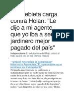 Amorebieta Sobre Independiente
