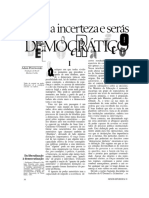 Adam Przeworski - ama a incerteza e será democrático