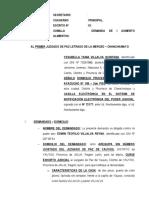 Demanda de Aumento de Alimentos 93 - ELABORADO POR EL ABOGADO PERCY JESUS CORONADO CANCHAN, CON DOMICILIO EN EL JIRON AYACUCHO Nº 108 - 2DO PISO EN LA MERCED - CHANCHAMAYO - JUNIN, CELULAR 954 062131.