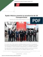 18-01-19 Ryder México premia la excelencia de 20 transportistas _ Transportes y Turismo