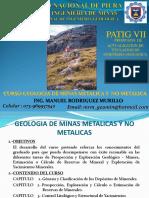 Geología de Minas, Clases.