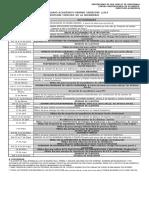 Calendario Academico 1er Semestre 2019