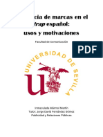 Inmaculada Mármol Martín - Presencia de Marcas en El Trap Español