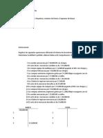 Sistema de Inventarios Perpetuos, Asientos de Diario y Esquemas de Mayor.