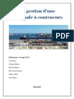 gestion d'un terminale a conteneur