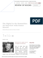 The Digital in the Humanities_ an Interview With Franco Moretti - Los Angeles Review of Books