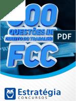 #Apostila 600 Questões de Direito Do Trabalho Da FCC (2017) - Estratégia Concursos
