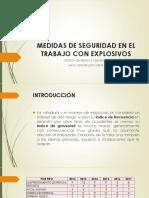 Medidas de Seguridad en El Trabajo Con Explosivos