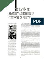Sirvent-1996-Educacion de Jovenes y Adultos en Un Contexto de Ajuste