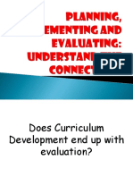 Planning, Implementing and Evaluating