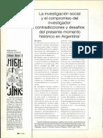 Sirvent-2003-La Investigación Social y El Compromiso Del Investigador