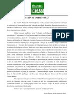 Carta de Apresentação (Adriano Queiroz)