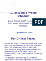 Normalizing a Project Schedule-2
