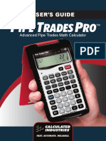 Pipe Trades Pro Manual