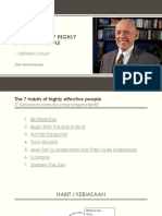 Slide PPT - The 7 Habits of Highly Effective People