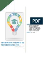 05. Tecnicas e Instrumentos de Recoleccion de Datos