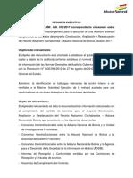 Resumen Ejecutivo-Informe de Relevamiento de Informacion Aduana Nacional