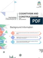 Slide PPT - Cognitivsm and Constructivism