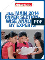 JEE Main 2014 Paper Section Wise Analysis by Experts