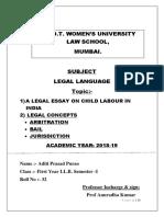 Legal Topic Edited