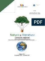 Proiect_Natura Si Literatura_regulament 2018-2019