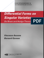 (Pure and Applied Mathematics) Vincenzo Ancona, Bernard Gaveau-Differential Forms on Singular Varieties_ de Rham and Hodge Theory Simplified-Chapman and Hall_CRC (2005)