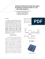 New Hybrid Power Generation for Multiple Energy Harvesting System Using Pv and Peltier Module