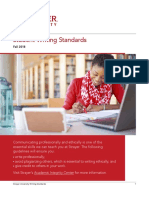Strayer University Writing Standards Fall 2018