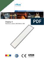 Plafoniera Cu LEDuri, 300x1200mm, 45W-Sali Clasa