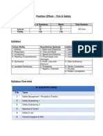 Officer Safety & Fire Syllabus Pattern