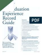 Guide for Pre Graduation