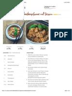 Asia-Hähnchenpfanne mit Sesam - Essen ohne Kohlenhydrate