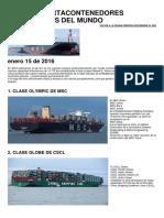 10 Tipos de Barcos Portacontenedores Mas Grandes