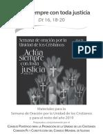2019 Unidad Cristianos Materiales