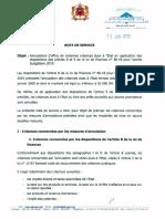 Note 15-01-2019 Annulations D'office de Certaines Creances Dues a L'etat