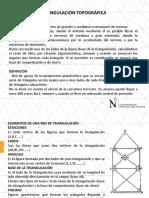 Triangulación Topográfica, Definición y Cálculo