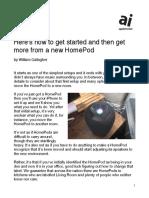 New HomePod User's Guide PDF