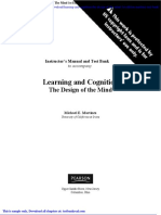 Learning and Cognition the Design of the Mind 1st Edition Martinez Test Bank