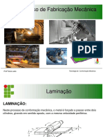 Slide Processo de Conformação Mecânica - LAMINAÇÃO