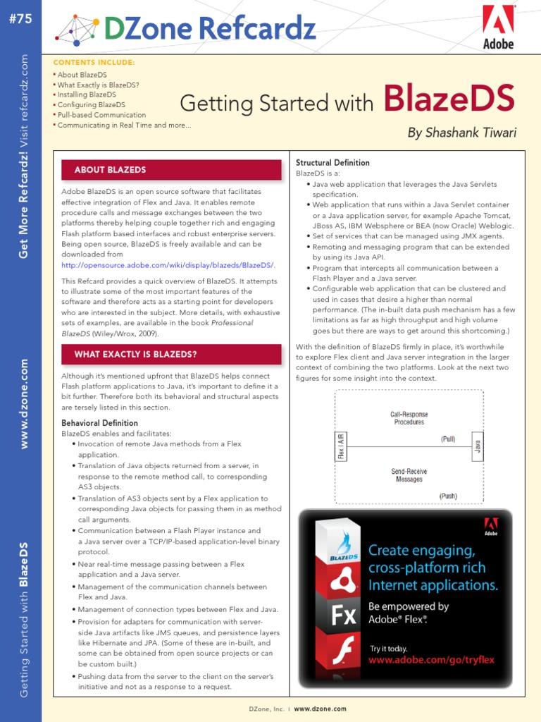 Adobe BlazeDS - Tool for Flex and Java Integration pdf | Spring