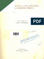 Schriner, Introducción a Los Métodos de Exégesis Bíblica
