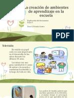La creación de ambientes de aprendizaje en la escuela