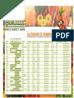 Calendario de Sementeira