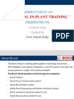 INDUSTRIAL IN-PLANT TRAINING