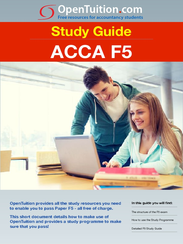ACCA F5 Study Guide pdf | Test (Assessment) | Business