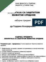 1. Predavanje Sadrzaj Predmeta i Def Ekologije 7