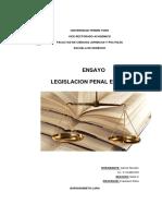 Ensayo Legislacion Penal